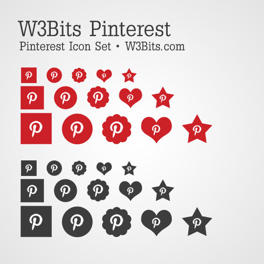 W3Bits Pinterest Icon Set