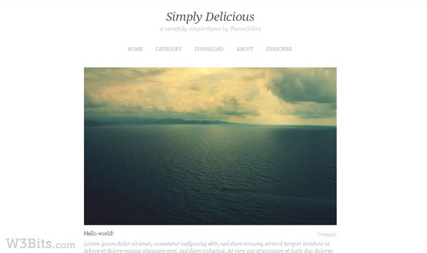 Simply Delicious WordPress Theme
