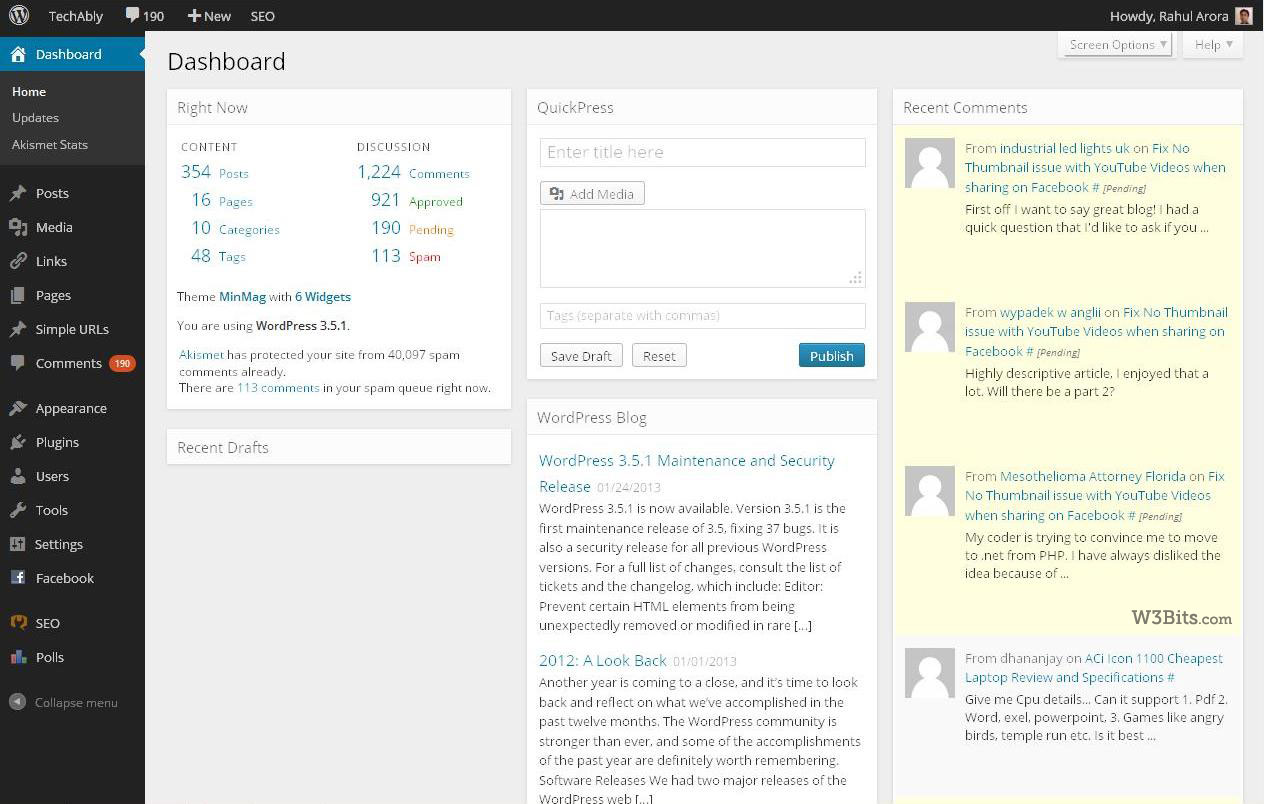 New WordPress Admin UI
