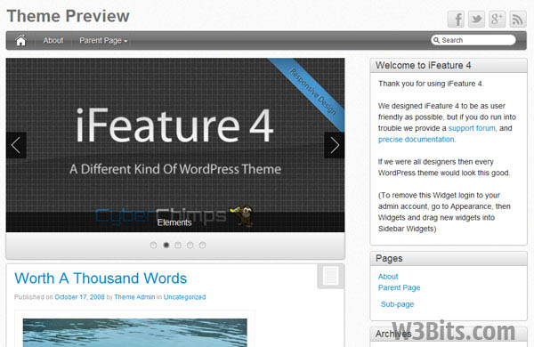 iFeature WordPress Theme