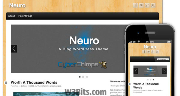 Neuro WordPress Theme