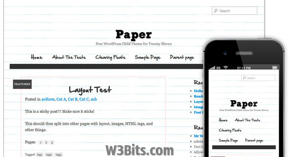 Paper WordPress Theme