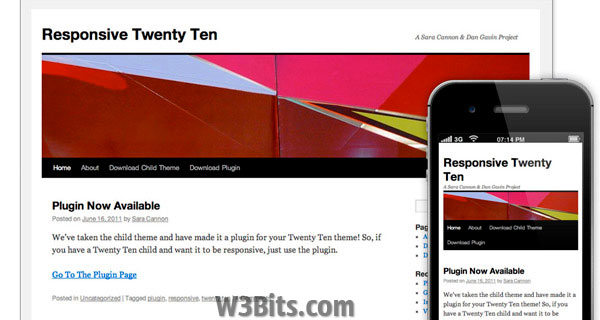 Responsive Twenty Ten Theme