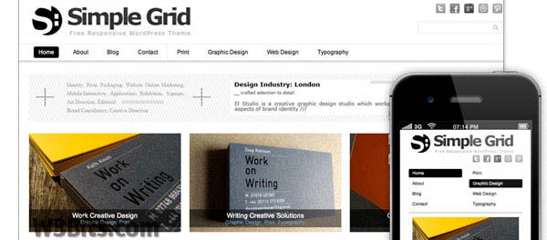 Simple Grid WordPress Theme