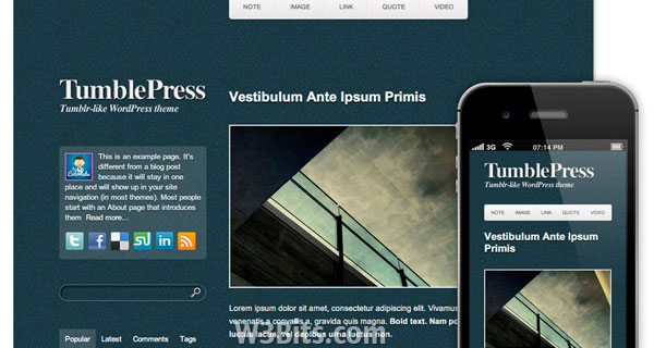 TumblePress WordPress Theme