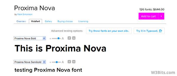 Preview Proxima Nova