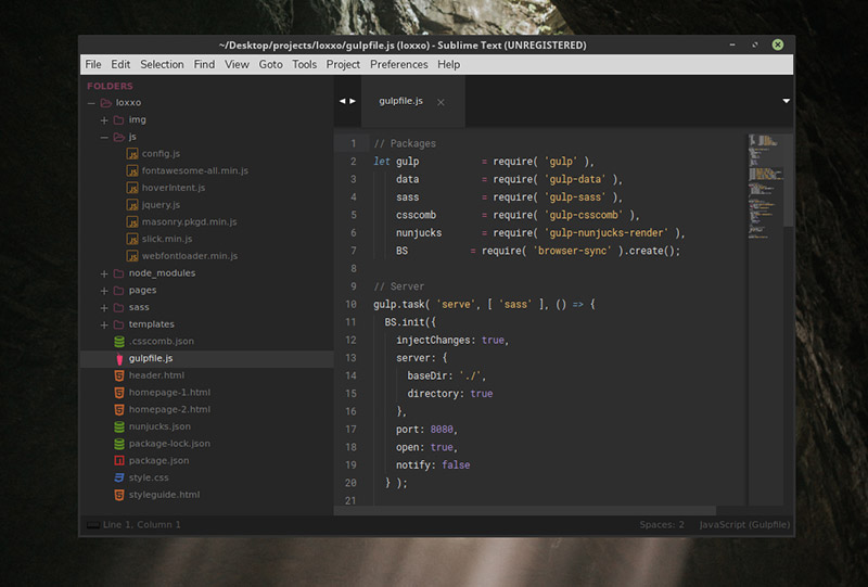 Afterglow Theme for Sublime Text