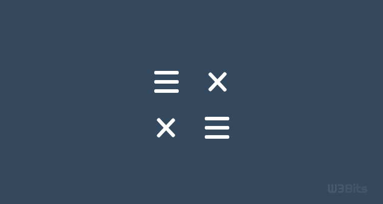 Create Animated Hamburger Menu Icon With Pure CSS