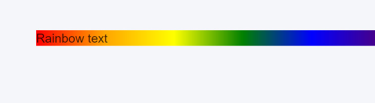 CSS Rainbow Text Initial Phase with a gradient