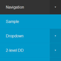 CSS-only Responsive Multi-level Navigation Menu