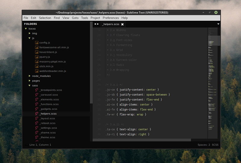 Cyanide Theme for Sublime Text