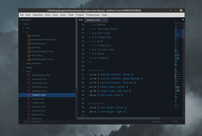 Darkmatter Theme for Sublime Text