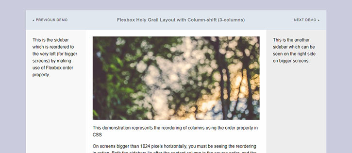 Creating Holy Grail Layouts with CSS Flexbox