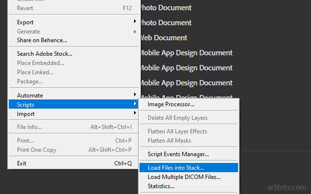 Loading files into stack in Photoshop