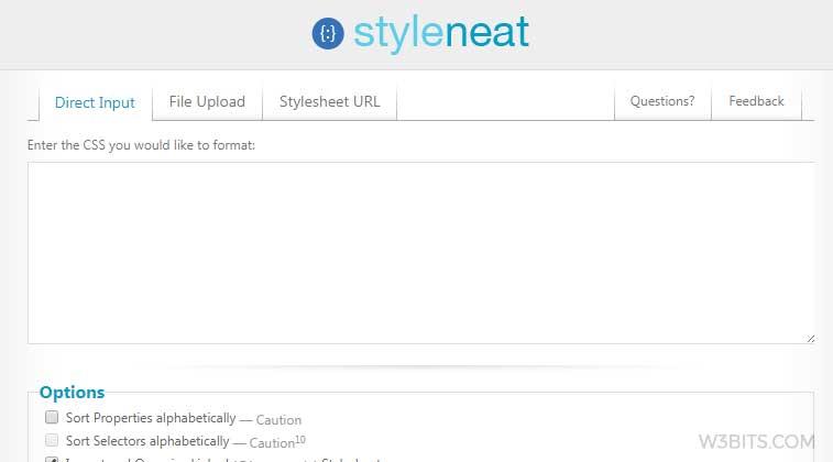 Styleneat CSS Optimizer