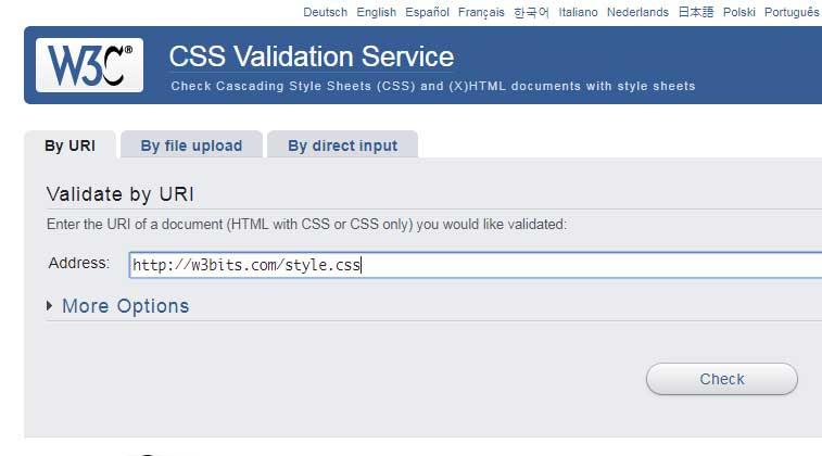 W3 CSS Validator